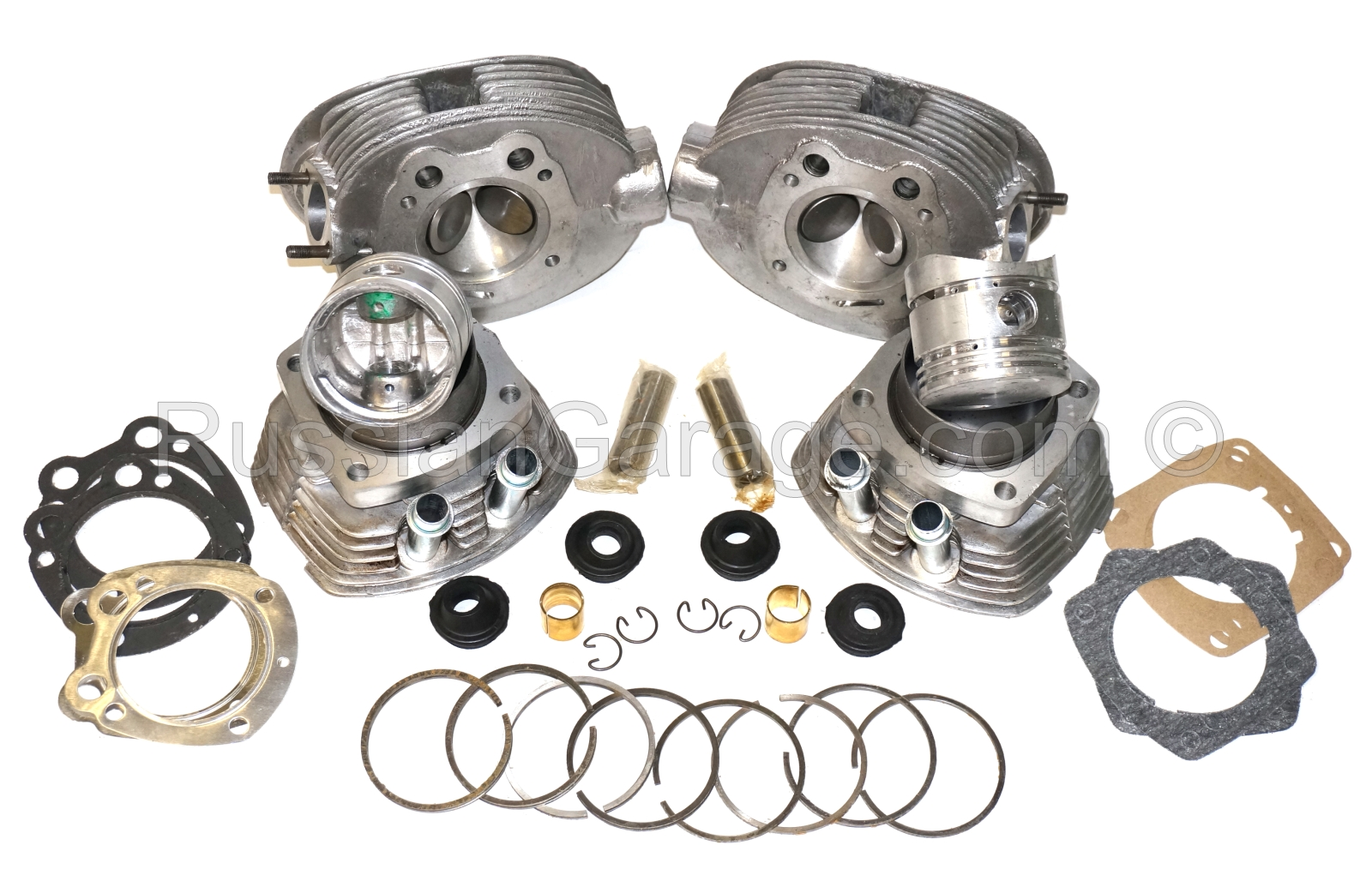 Cylinders pistons set and heads complete kit URAL ...