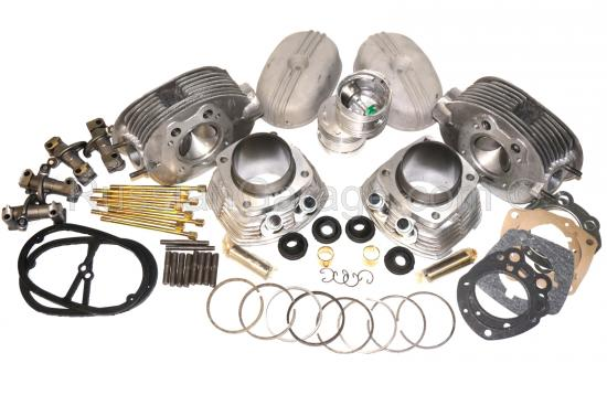 Complete set cylinders heads pistons rings rockers...