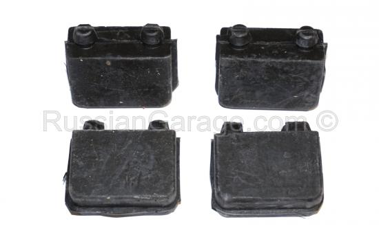 Seat bench buffer block (rubber, set of 4pc.) URAL