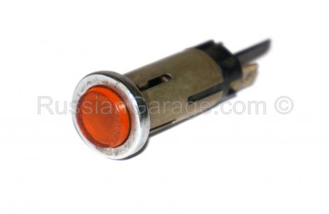 Warning light YELLOW/ORANGE color (ROUND) URAL DNE...