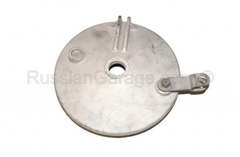 Sidecar brake drum cover with brake shoes and spri...