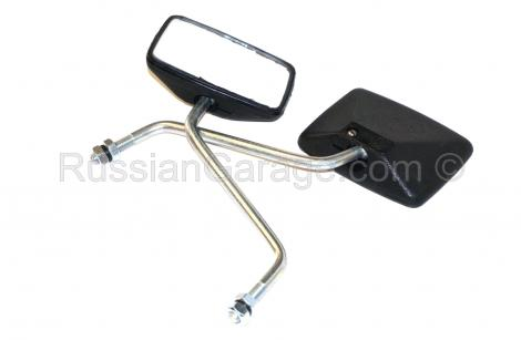 Pair rear view mirrors (square) ORIGINAL IMZ logo ...