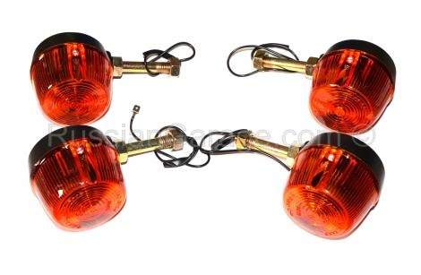 Turn indicators signals set (2x front + 2x rear) U...
