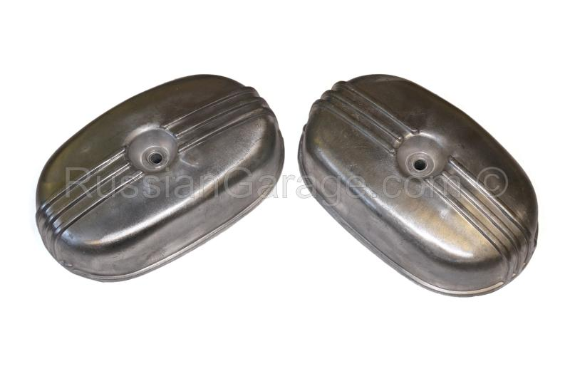 Pair cylinder heads rockers valves covers URAL 650...
