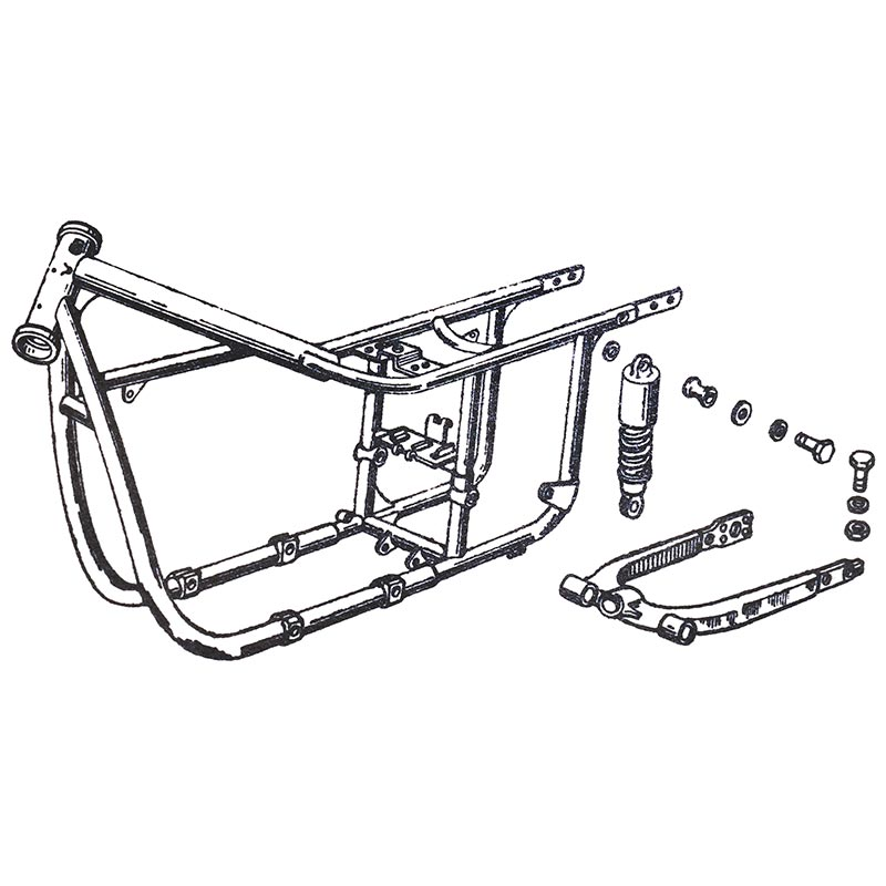 FRAME, REAR SWING ARM