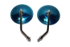 Pair rear view mirrors (round) CHROMED URAL DNEPR