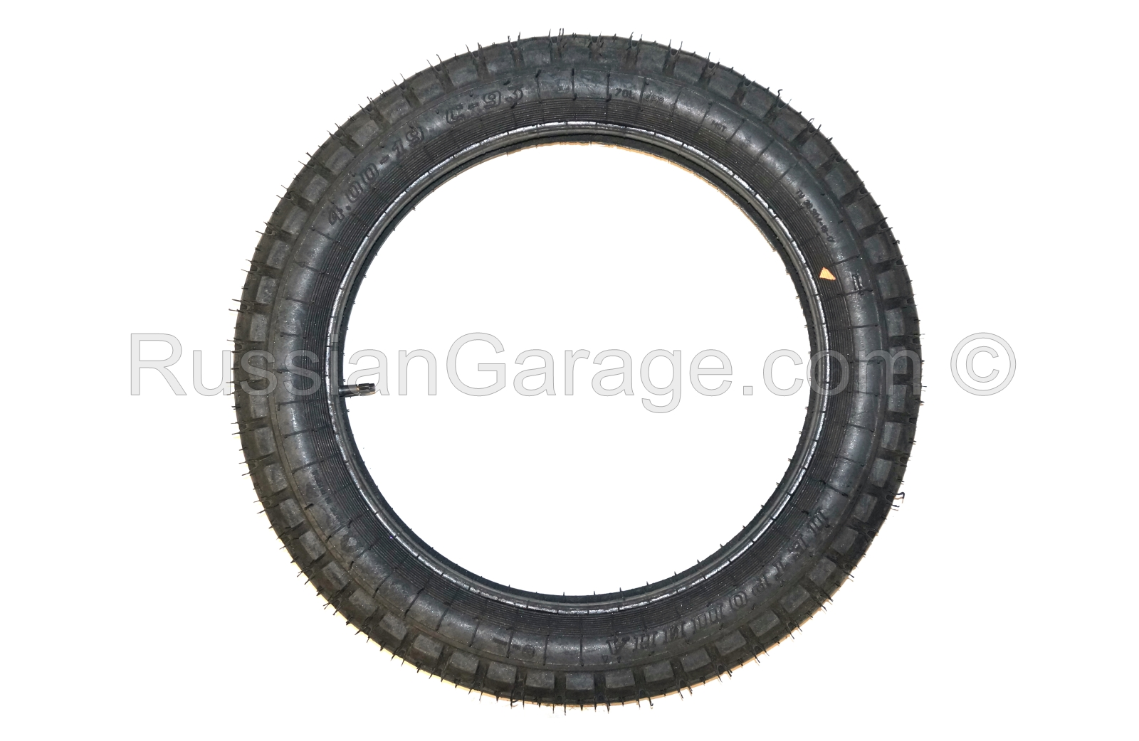 Tire with inner tube 4.00-19