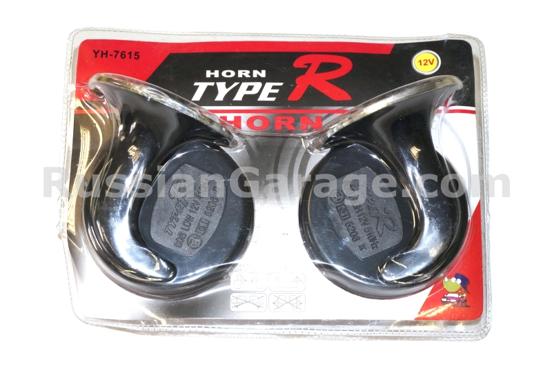 Horn (black-red, set of 2pc.) 12V URAL DNEPR